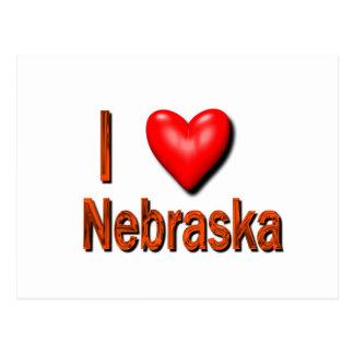 I Heart Nebraska Postcard