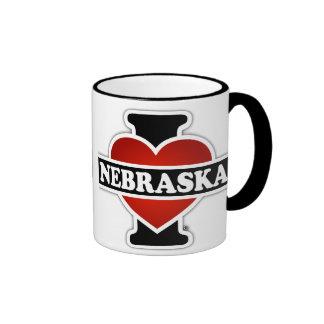 I Heart Nebraska Ringer Mug