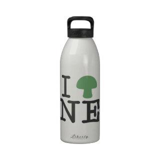 I HEART Nebraska - Solid Green Magic Mushroom Drinking Bottles