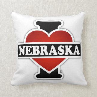 I Heart Nebraska Throw Pillow