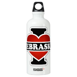 I Heart Nebraska Water Bottle