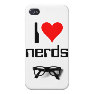 I Heart Nerds Cover For iPhone 4