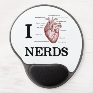 I Heart Nerds Gel Mouse Pad