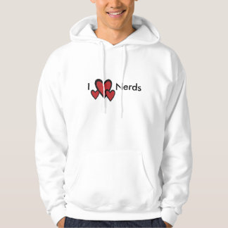 I heart nerds hoodie