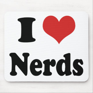 I heart Nerds Mouse Pad