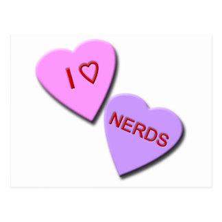 I Heart Nerds Postcard