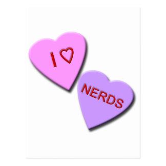 I Heart Nerds Post Cards