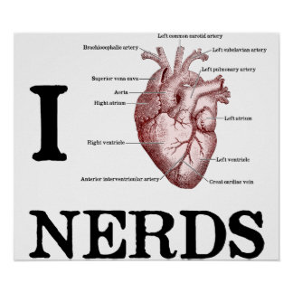 I Heart Nerds Posters