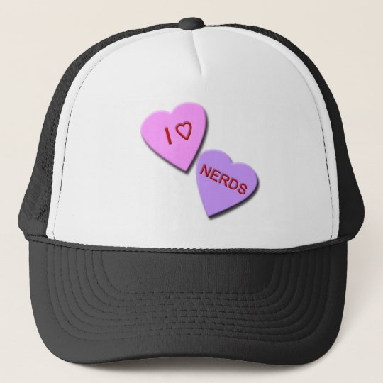 I Heart Nerds Trucker Hat