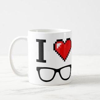 I heart nerdy glasses coffee mug