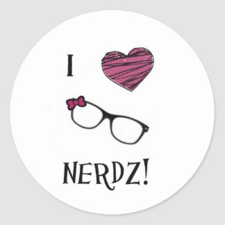 I Heart Nerdz stickers