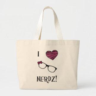 I Heart Nerdz Tote Canvas Bags
