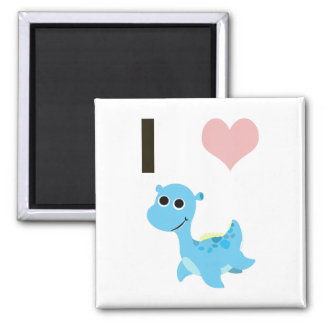 I Heart Nessie 2 Inch Square Magnet