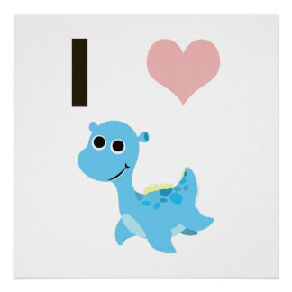 I Heart Nessie Poster
