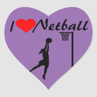 I Heart Netball Heart Sticker