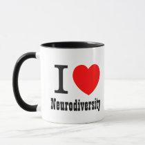 I Heart Neurodiversity/I LOVE Neurodiversity Mug