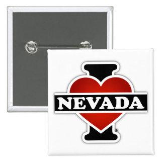 I Heart Nevada 2 Inch Square Button