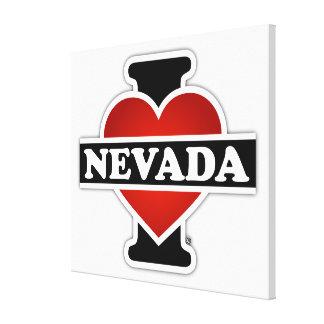 I Heart Nevada Canvas Print