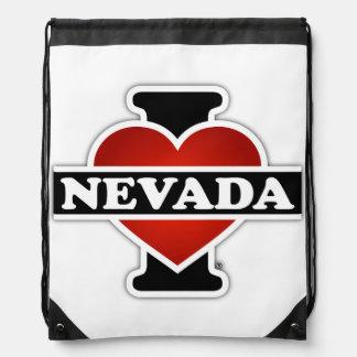 I Heart Nevada Drawstring Backpack