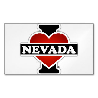 I Heart Nevada Magnetic Business Card