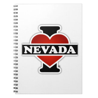 I Heart Nevada Spiral Notebook