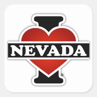 I Heart Nevada Square Sticker