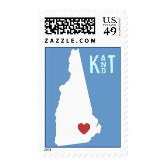 I Heart New Hampshire - Customizable City Stamp