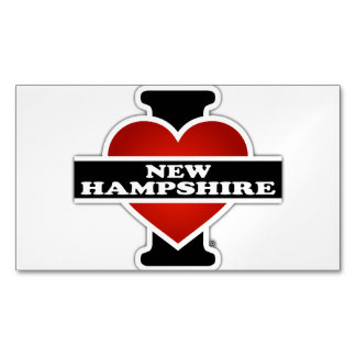 I Heart New Hampshire Magnetic Business Card