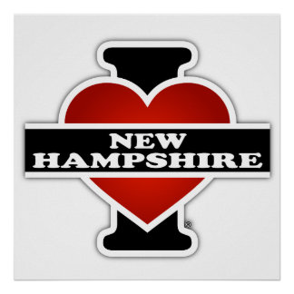 I Heart New Hampshire Poster