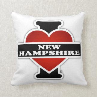 I Heart New Hampshire Throw Pillow
