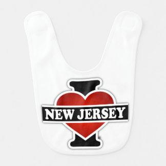 I Heart New Jersey Baby Bib