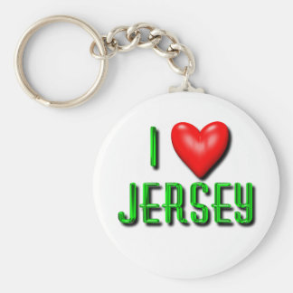 I Heart New Jersey Basic Round Button Keychain