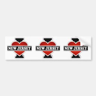 I Heart New Jersey Bumper Sticker