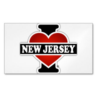 I Heart New Jersey Business Card Magnet