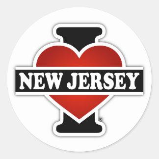 I Heart New Jersey Classic Round Sticker
