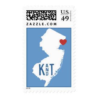 I Heart New Jersey - Customizable City Stamp