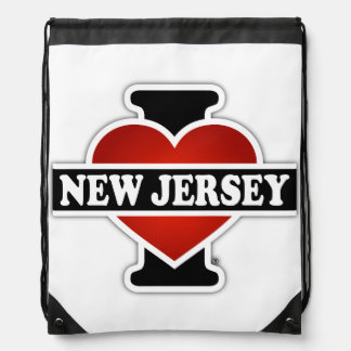 I Heart New Jersey Drawstring Bag
