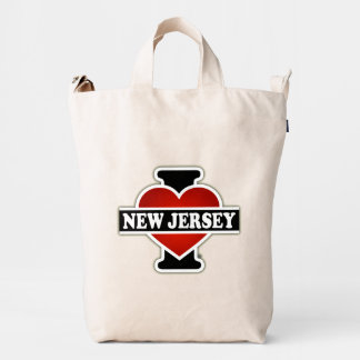 I Heart New Jersey Duck Bag
