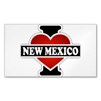 I Heart New Mexico Business Card Magnet