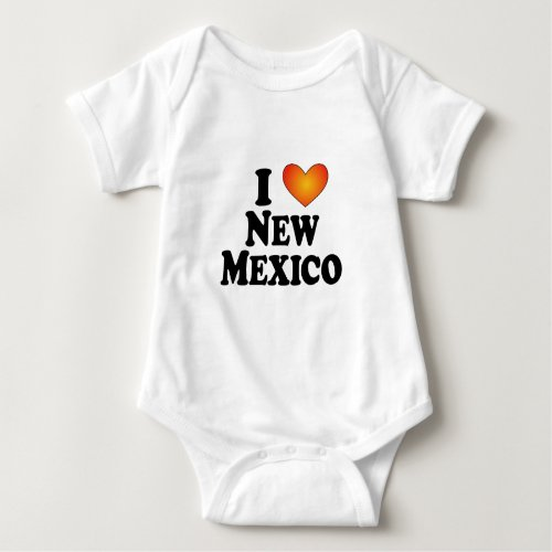 I heart New Mexico _ Lite Multi_Products Baby Bodysuit