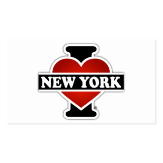 I Heart New York Double-Sided Standard Business Cards (Pack Of 100)