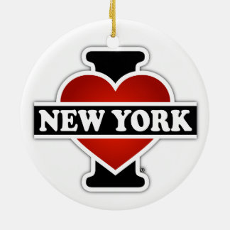 I Heart New York Ceramic Ornament
