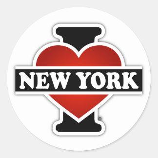 I Heart New York Classic Round Sticker
