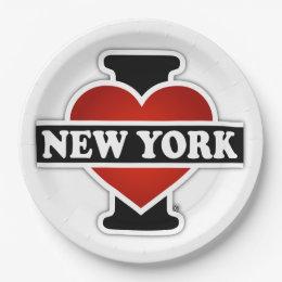 I Heart New York Paper Plate