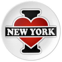 I Heart New York Plate