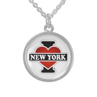 I Heart New York Round Pendant Necklace