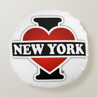 I Heart New York Round Pillow