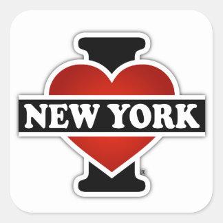I Heart New York Square Sticker