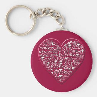 I Heart New York to Help Hurricane Sandy Relief Basic Round Button Keychain