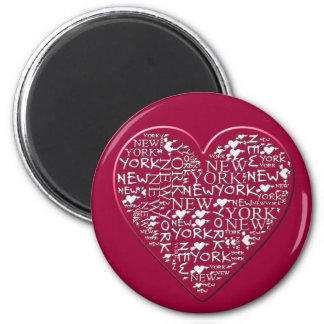 I Heart New York to Help Hurricane Sandy Relief 2 Inch Round Magnet